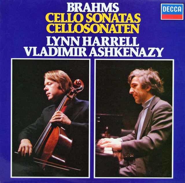 ハレル&アシュケナージのブラームス/チェロソナタ1&2番 独DECCA 3208 LP レコード