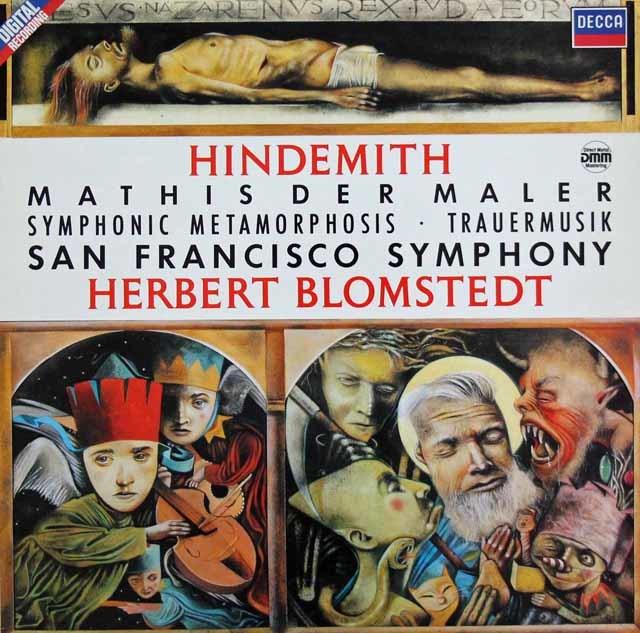ブロムシュテットのヒンデミット/「画家マティス」ほか 独DECCA 3208 LP レコード