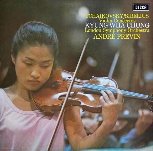 チョン&プレヴィンのシベリウス&チャイコフスキー/ヴァイオリン協奏曲集  独DECCA 3208 LP レコード