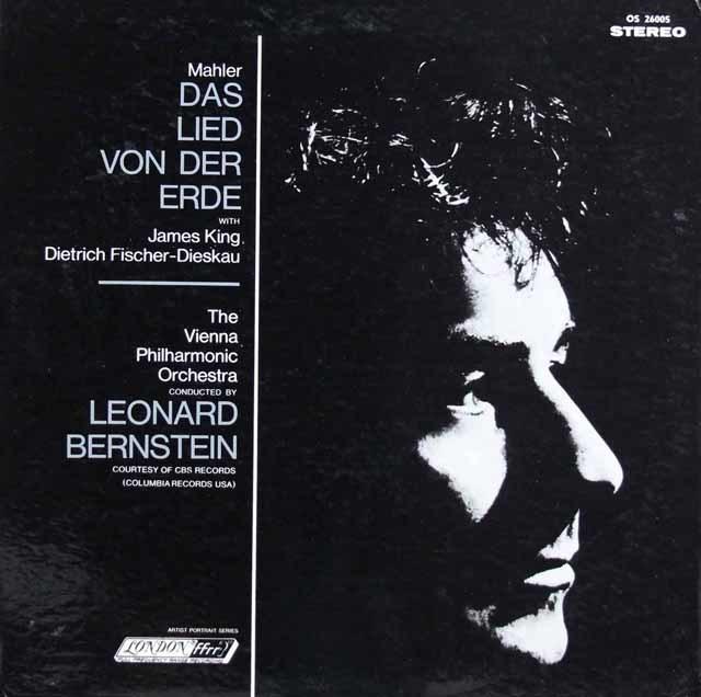 【直筆サイン入り】 D.F=ディースカウ&バーンスタインのマーラー/「大地の歌」 英LONDON 3208 LP レコード