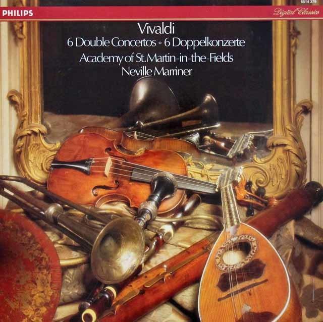 マリナー&アカデミー室内管弦楽団のヴィヴァルディ/二重協奏曲集 蘭PHILIPS 3208 LP レコード