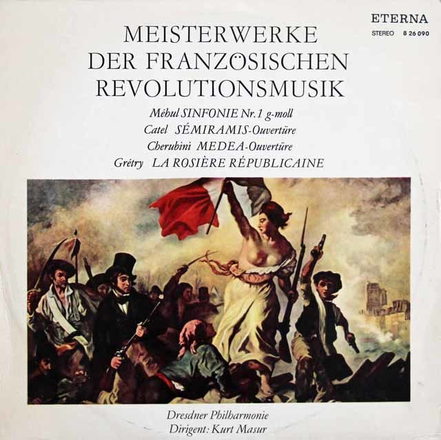 【テストプレス】マズアの「フランス革命の音楽」 独ETERNA 3208 LP レコード