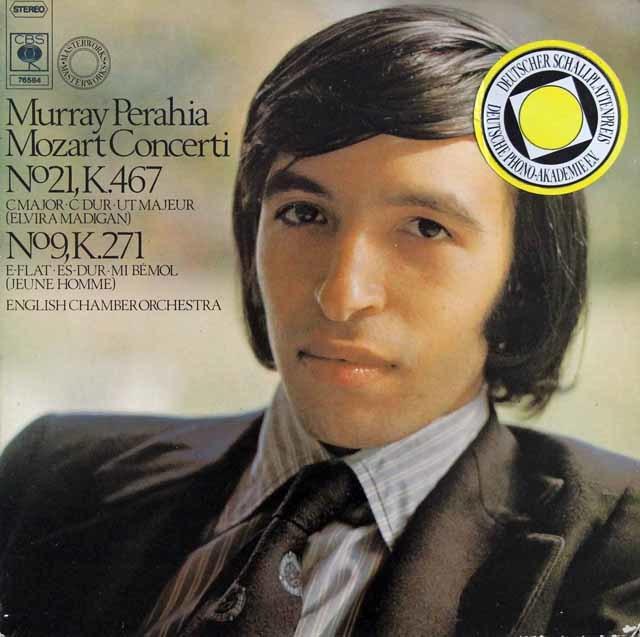 ペライアのモーツァルト/ピアノ協奏曲第9番&第21番 独CBS 3208 LP レコード