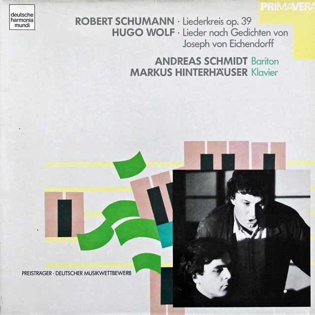 A.シュミットのシューマン/「リーダークライス」ほか 独HM 3208 LP レコード