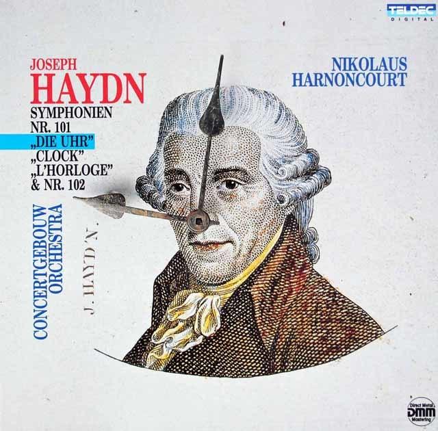 アーノンクールのハイドン/交響曲第101番「時計」ほか 独TELDEC 3208 LP レコード