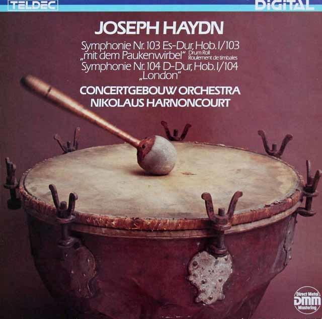 アーノンクールのハイドン/交響曲第103番「太鼓連打」&104番「ロンドン」 独TELDEC 3208 LP レコード