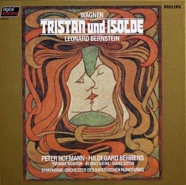バーンスタインのワーグナー/「トリスタンとイゾルデ」全曲 蘭PHILIPS 3208 LP レコード