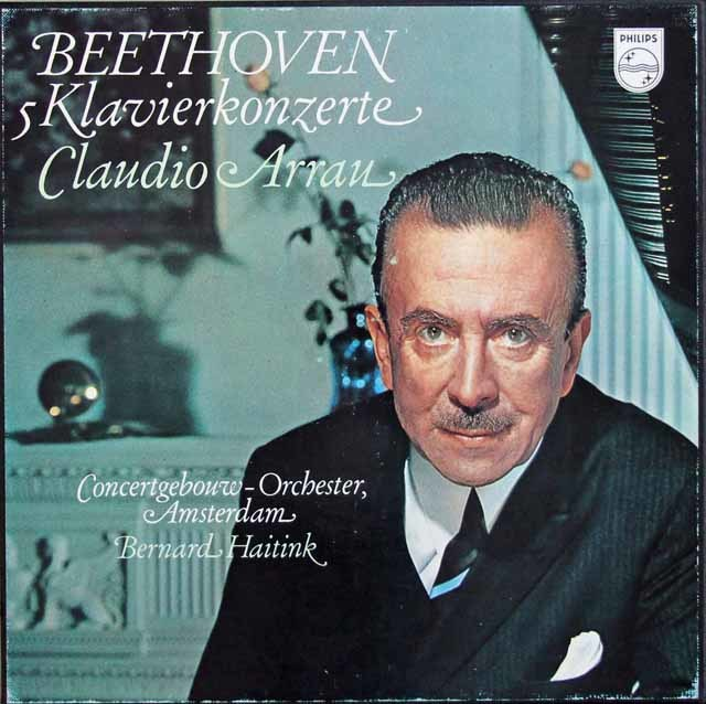 アラウ&ハイティンクのベートーヴェン/ピアノ協奏曲全集 蘭PHILIPS 3208 LP レコード