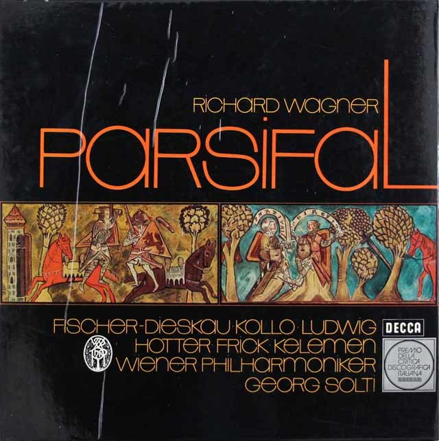 ショルティのワーグナー/「パルジファル」全曲 独DECCA 3208 LP レコード