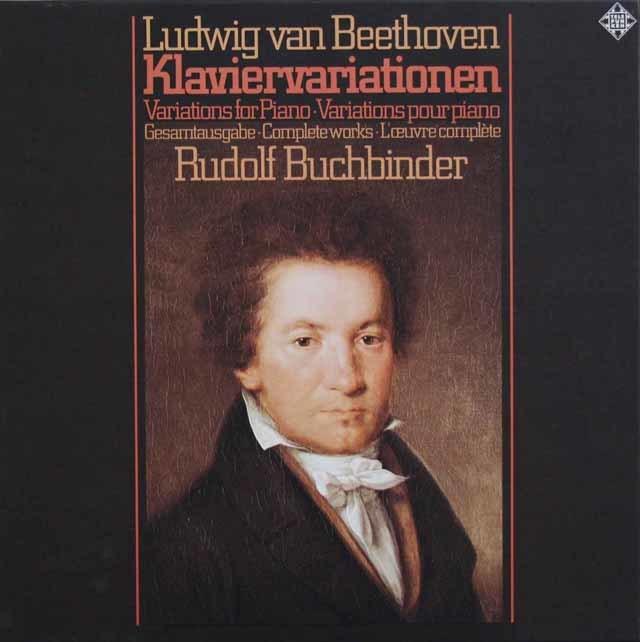 ブッフビンダーのベートーヴェン/ピアノの為の変奏曲全集 独TELEFUNKEN 3208 LP レコード