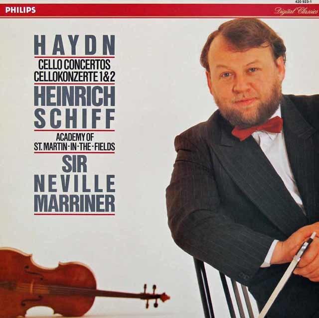 シフ&マリナーのハイドン/チェロ協奏曲第1&2番 蘭PHILIPS 3209 LP レコード