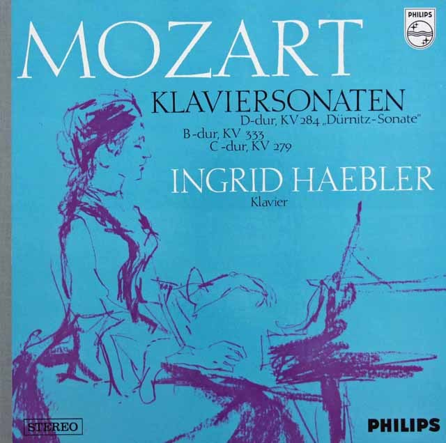 ヘブラーのモーツァルト/ピアノソナタ第6番「デュルニツ」ほか 蘭PHILIPS 3209 LP レコード