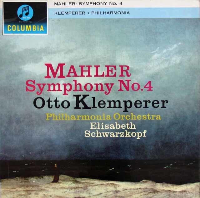 シュヴァルツコップ&クレンペラーのマーラー/交響曲第4番 英Columbia 3209 LP レコード