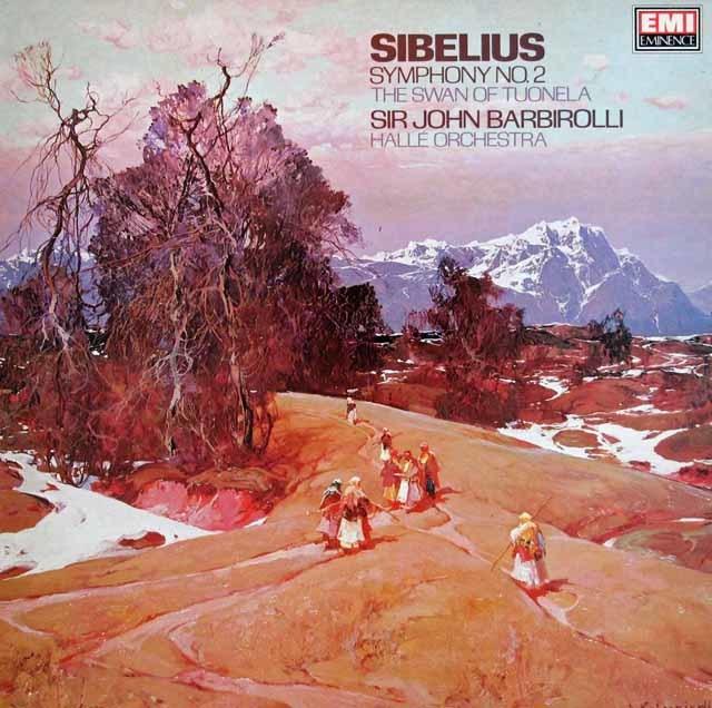 バルビローリのシベリウス/交響曲第2番ほか 英EMI 3209 LP レコード