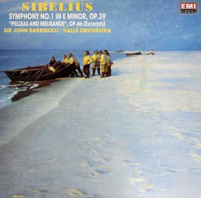 バルビローリのシベリウス/交響曲第1番ほか 英EMI 3209 LP レコード