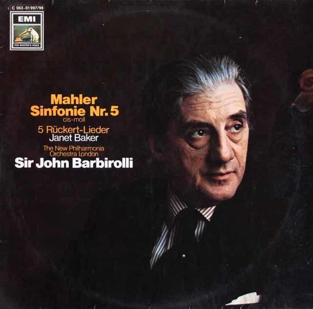 バルビローリのマーラー/交響曲第5番 独EMI 3209 LP レコード