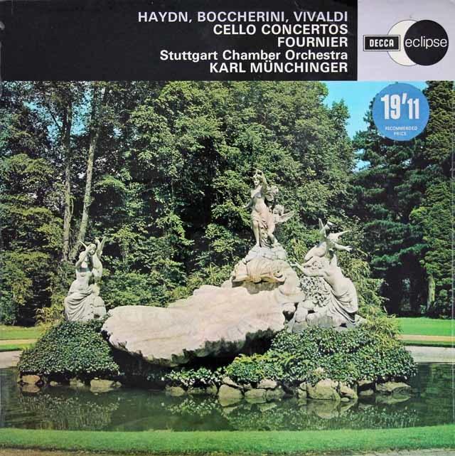 フルニエ&ミュンヒンガーのハイドン、ボッケリーニ、ヴィヴァルディ/チェロ協奏曲集 英DECCA 3209 LP レコード