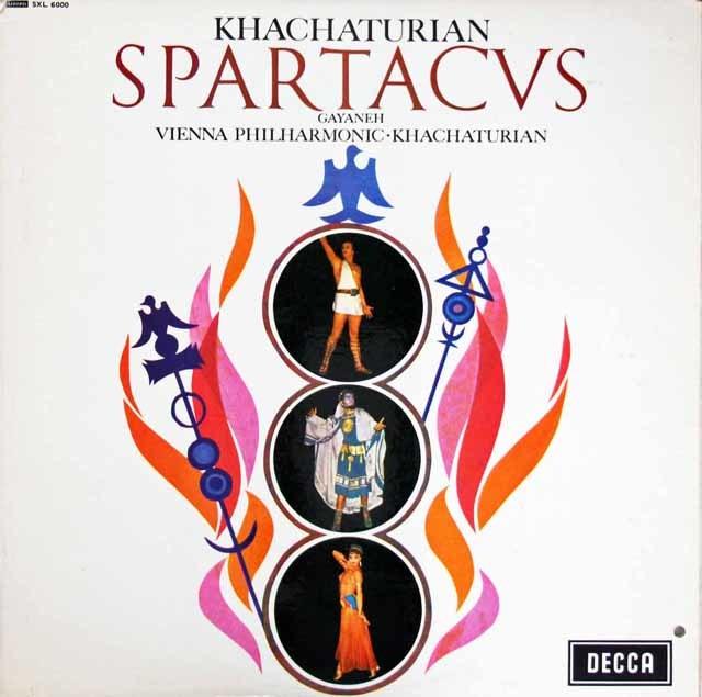 ハチャトゥリアンの自作自演/「スパルタクス」&「ガイーヌ」 英DECCA 3209 LP レコード