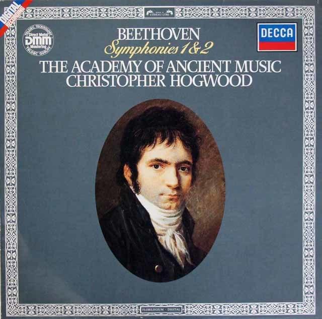 ホグウッドのベートーヴェン/交響曲第1&2番 独DECCA 3209 LP レコード