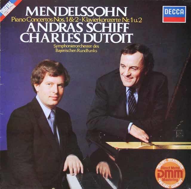 シフ&デュトワのメンデルスゾーン/ピアノ協奏曲第1&2番 独DECCA 3209 LP レコード