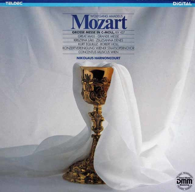 アーノンクールのモーツァルト/ミサ曲 ハ短調(大ミサ) 独TELDEC 3209 LP レコード
