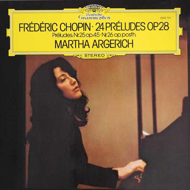 アルゲリッチのショパン/「24の前奏曲」ほか 独DGG 3209 LP レコード