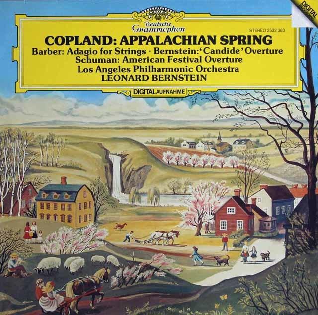 バーンスタインのコープランド/バレエ「アパラチアの春」ほか 独DGG 3209 LP レコード