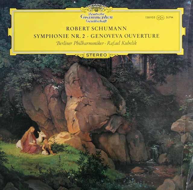 【独最初期盤】 クーベリックのシューマン/交響曲第2番&「ゲノフェーファ」序曲  独DGG 3209 LP レコード