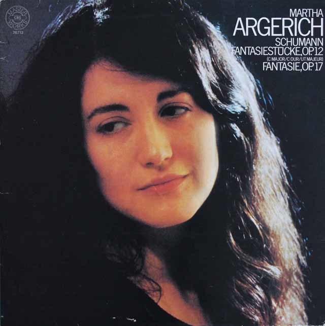 アルゲリッチのシューマン/幻想曲&幻想小曲集 独CBS 3209 LP レコード