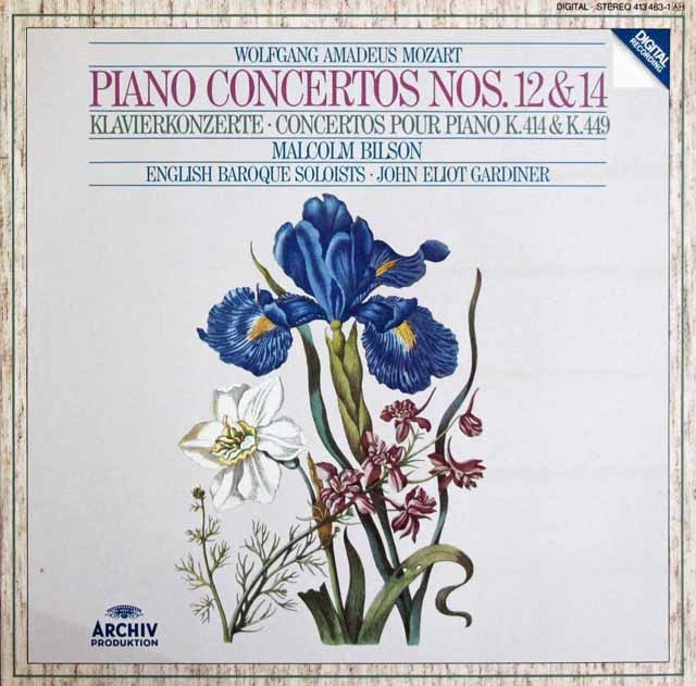 ビルソン&ガーディナーのモーツァルト/ピアノ協奏曲第12&14番 独ARCHIV 3209 LP レコード