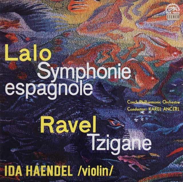イダ・ヘンデル&アンチェルのラロ/スペイン交響曲ほか チェコスロヴァキアSUPRAPHON 3209 LP レコード