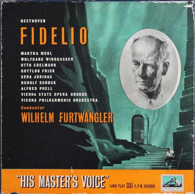 【オリジナル盤】 フルトヴェングラーのベートーヴェン/「フィデリオ」全曲 英EMI 3209 LP レコード