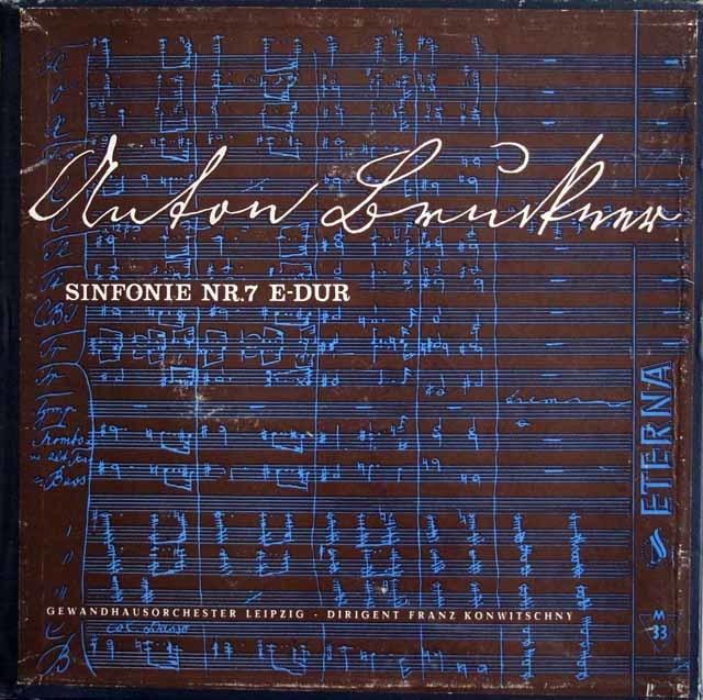 【独最初期盤】 コンヴィチュニーのブルックナー/交響曲第7番 独ETERNA 3209 LP レコード