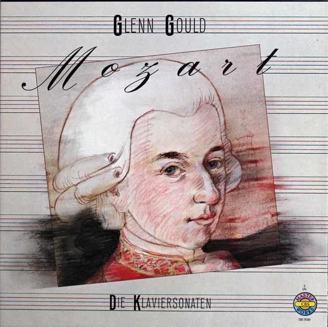 グールドのモーツァルト/ピアノソナタ全集 独CBS 3209 LP レコード