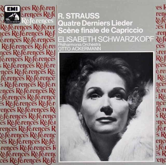 シュヴァルツコップのR.シュトラウス/「4つの最後の歌」ほか 仏EMI(VSM) 3210 LP レコード
