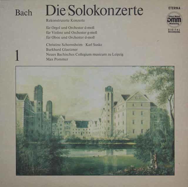 ズスケ&グレツナーらのバッハ/協奏曲集 vol.1 独ETERNA 3210 LP レコード