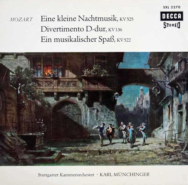ミュンヒンガーのモーツァルト/「アイネ・クライネ・ナハトムジーク」ほか 独DECCA 3210 LP レコード