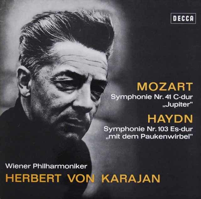 カラヤンのモーツァルト/「ジュピター」&ハイドン/「太鼓連打」 独DECCA 3210 LP レコード