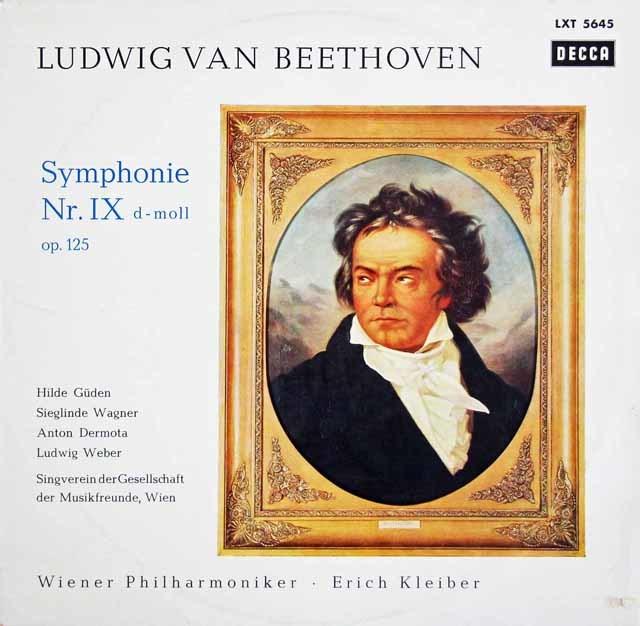 エーリヒ・クライバーのベートーヴェン/交響曲第9番「合唱付き」 独DECCA 3210 LP レコード