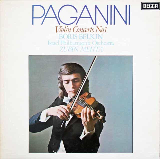 【オリジナル盤】ベルキン&メータのパガニーニ/ヴァイオリン協奏曲第1番 英DECCA 3210 LP レコード