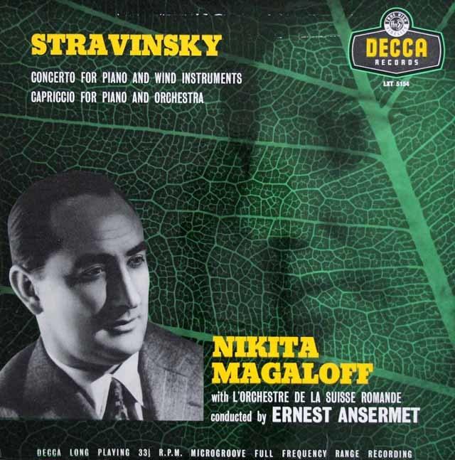 【オリジナル盤】マガロフ&アンセルメのストラヴィンスキー/ピアノと管楽器の為の協奏曲ほか 英DECCA 3210 LPレコード