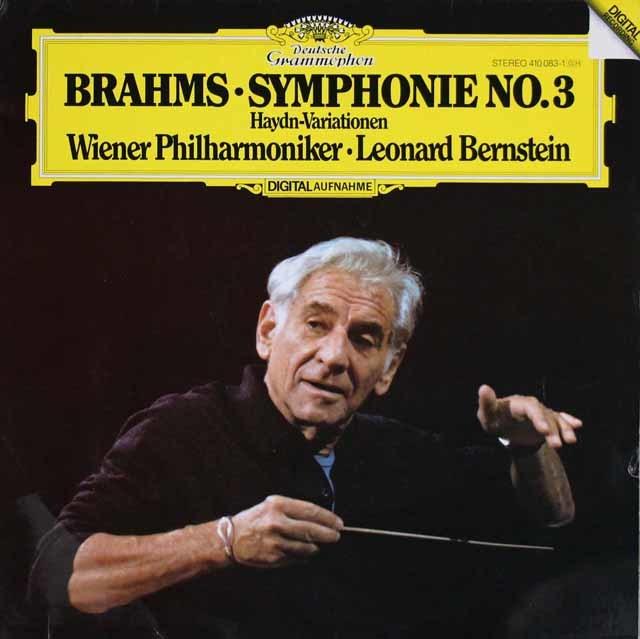 バーンスタインのブラームス/交響曲第3番 独DGG 3210 LP レコード