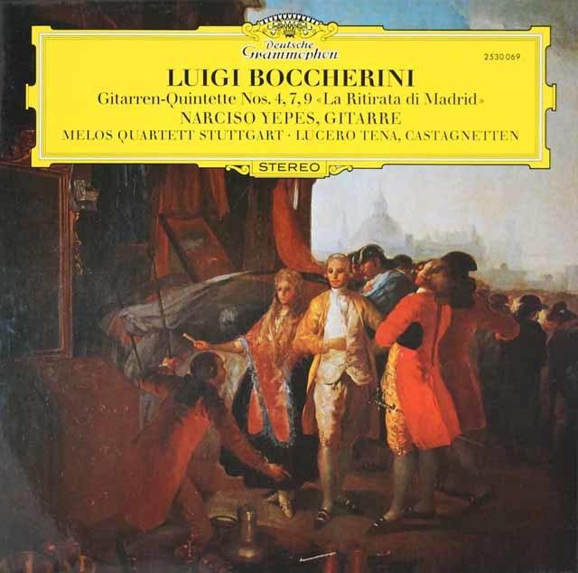 イエペス&メロス四重奏団のボッケリーニ/ギター五重奏曲集 独DGG 3210 LP レコード