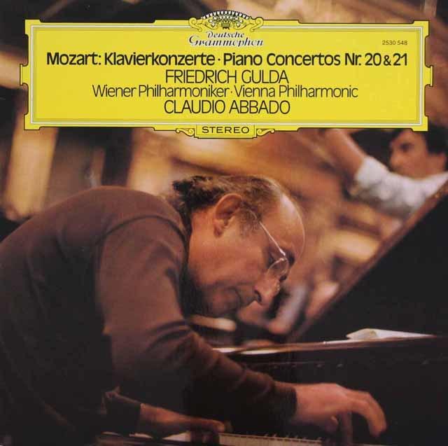 グルダ&アバドのモーツァルト/ピアノ協奏曲第20&21番 独DGG 3210 LP レコード