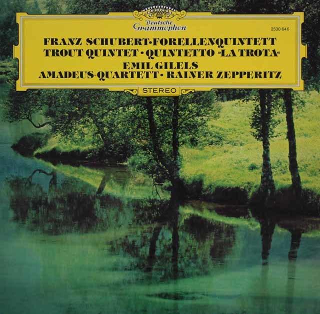 ギレリス&アマデウス四重奏団のシューベルト/ピアノ五重奏曲「ます」ほか 独DGG   3210 LP レコード