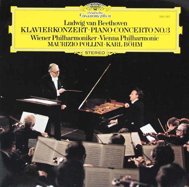 ポリーニ&ベームのベートーヴェン/ピアノ協奏曲第3番 独DGG 3210 LP レコード