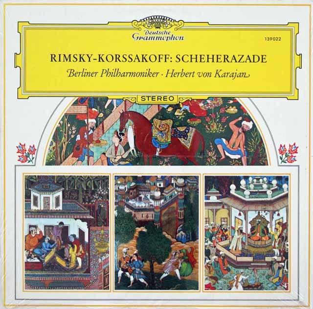 【未開封】カラヤンのリムスキー=コルサコフ/「シェヘラザード」 独DGG 3210 LP レコード