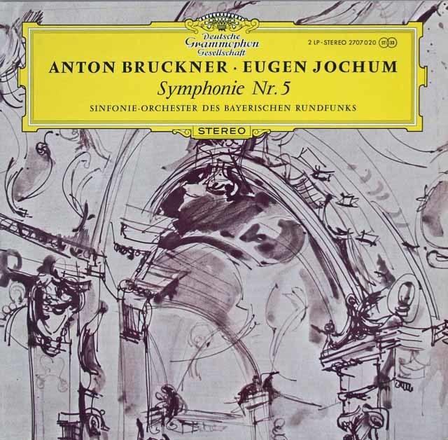【独最初期盤】ヨッフムのブルックナー/交響曲第5番 独DGG 3210 LP レコード
