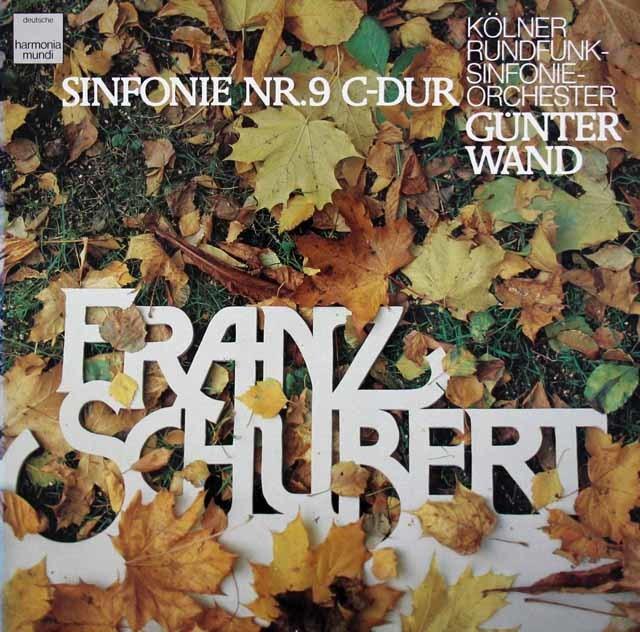 ヴァントのシューベルト/交響曲第9番「ザ・グレイト」 独HM 3210 LP レコード