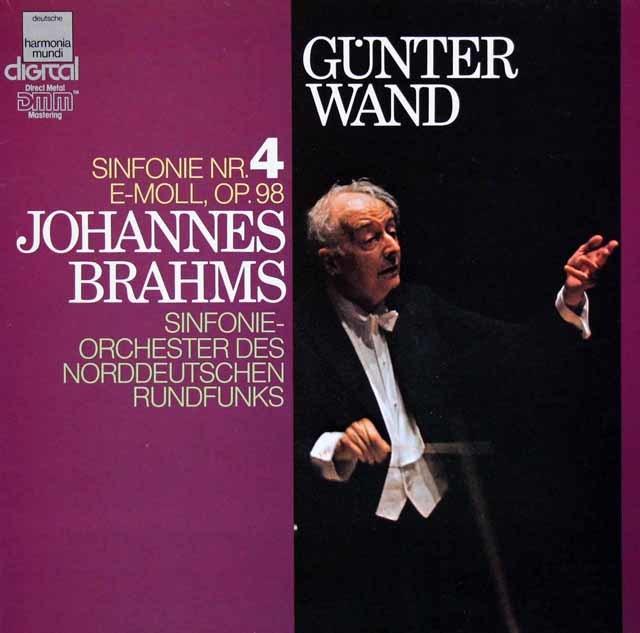 ヴァントのブラームス/交響曲第4番  独HM 3210 LP レコード